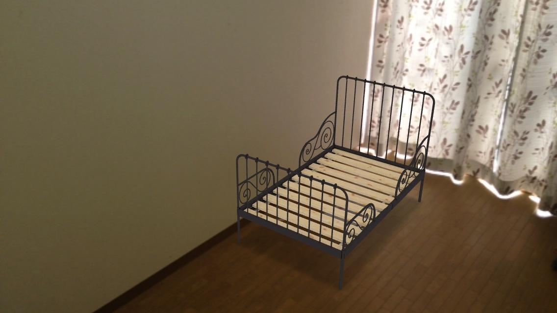 ベッドを配置
