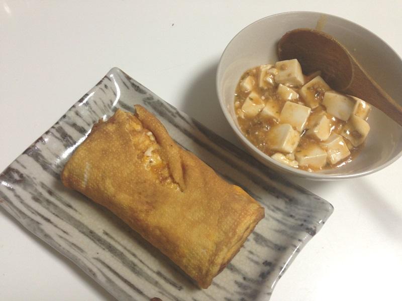 だし巻き玉子、麻婆豆腐