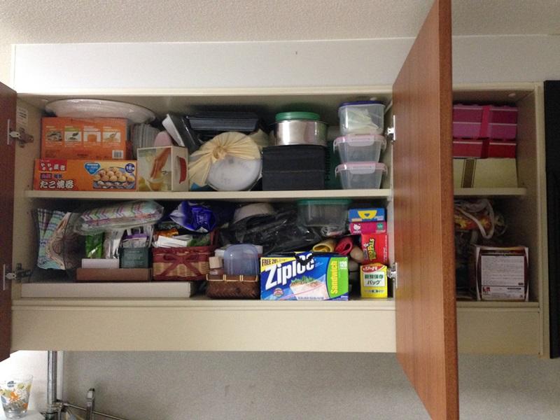 キッチン吊戸棚before