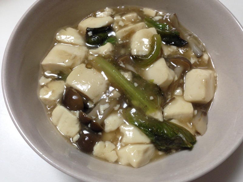 ちょっと和風な豆腐の塩あん炒め