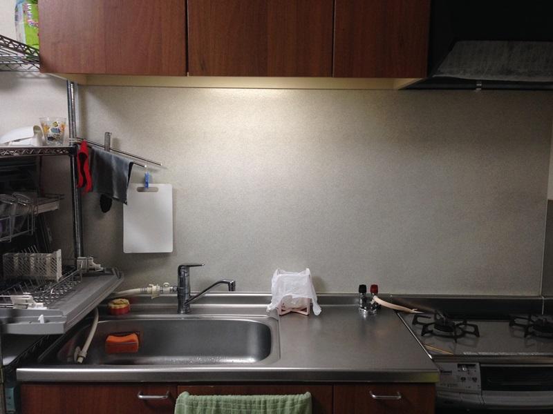 我が家のキッチン壁面before
