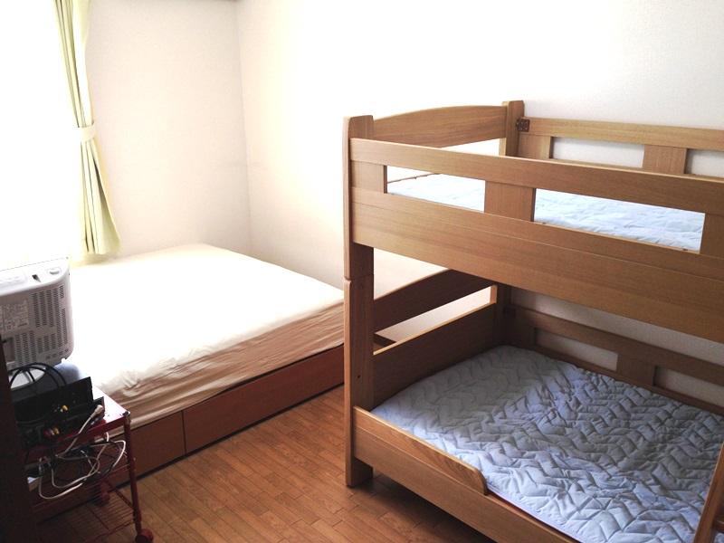 二段ベッドの設置が完了